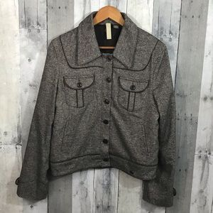 Ted Baker Brown tweed Button front jacket